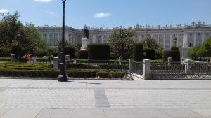Felipe IV Rey de España.Jardines Plaza de Oriente Madrid